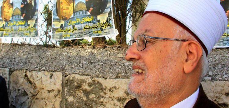 Israel bans Al-Aqsa Imam from entering West Bank