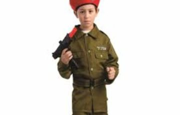 An outrageous children's 'IDF party costume' is being sold by Amazon for western Christian Halloween festival