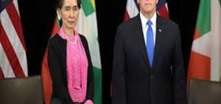 Mike Pence tells Suu Kyi Rohingya violence inexcusable