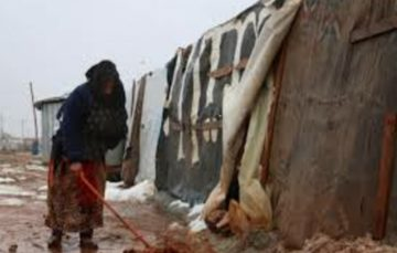 Lebanon's winter storm freezes refugees in flooded camps