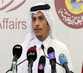 Qatari foreign minister urges de-escalation in US-Iran dispute