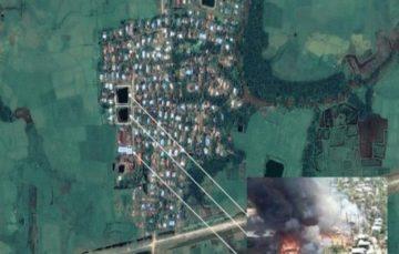 Imagery shows '200 buildings burned' in Myanmar's Rakhine State