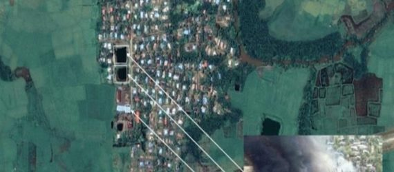 Imagery shows '200 buildings burned' in Myanmar's Rakhine State