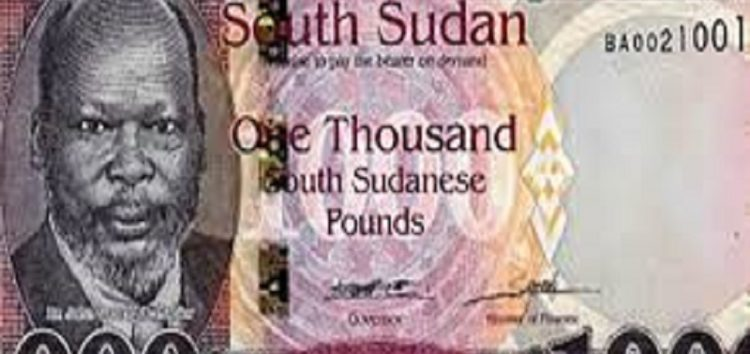 1,000 Pound banknote for South Sudan